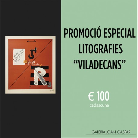 Special price of lithographs by Joan Pere Viladecans € 100 each