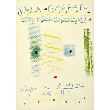 """PICASSO Pablo. """"Sala Gaspar. Dibujos de Picasso. Abril 1961""""."""