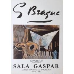 """BRAQUE Georges. Cartel """"Sala Gaspar. Enero 1975""""."""