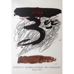 TÀPIES Antoni. Festival Internacional de Cadaques. 1972.