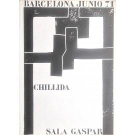 CHILLIDA Eduardo. Sala Gaspar 1971. Historical poster