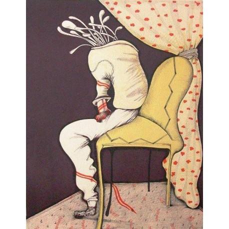 """ARRAZ-BRAVO Eduardo. """"Sentado"""". 1973."""