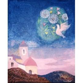 "LLOVET Ramon. ""Flors i colom l'espai"". 1981."