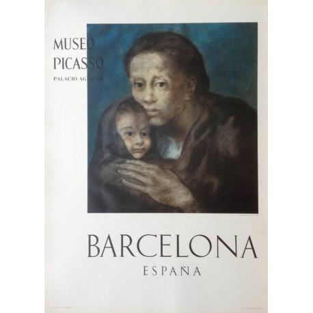 """PICASSO Pablo. """"Mère et enfant au fichu 1903"""". Museo Picasso. Barcelona"""