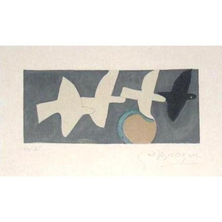 BRAQUE Georges. Quatre oiseaux. 1959.