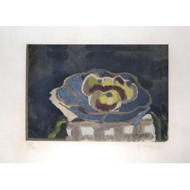 BRAQUE Georges. Nature morte au compotier. 1955.