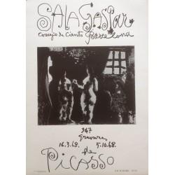 "PICASSO Pablo. ""Sala Gaspar. Serie 347"". 1968"