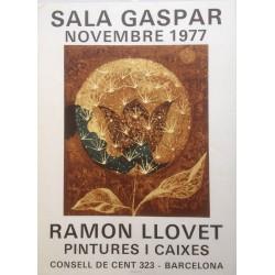 """LLOVET Ramon. """"Pintures i caixes"""". 1977."""