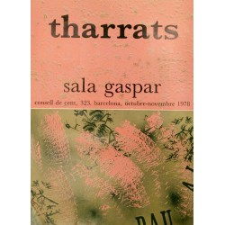 Poster THARRATS, Joan Josep. Sala Gaspar 1978. Barcelona.