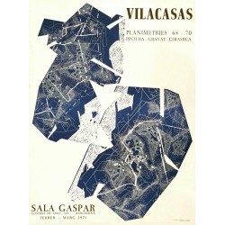 Poster VILACASAS, Joan. Sala Gaspar 1971. Barcelona.