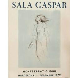 Poster GUDIOL Montserrat. 1972. Sala Gaspar.