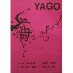 Poster Yago de Robert. Sala Gaspar 1976. Barcelona.